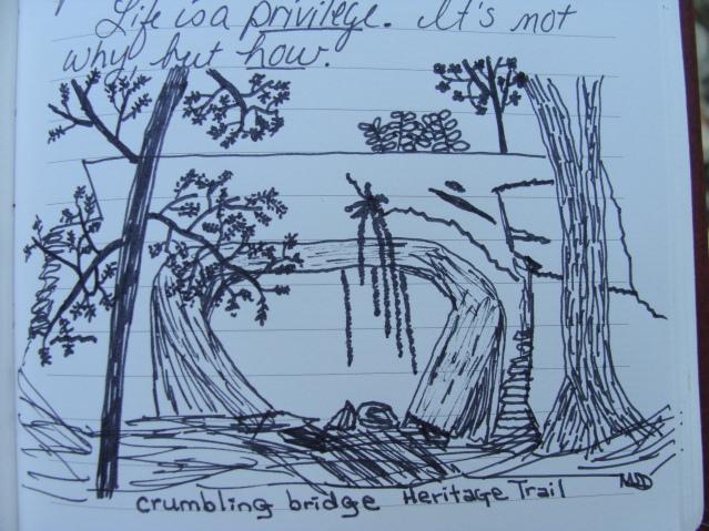 Crumbling Bridge Heritage Trail drawing