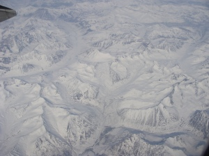 Alaskan mountains from the air