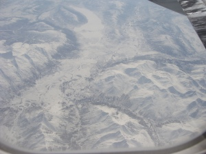 mountains in Alaska as seen from the air