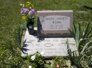 Double grave of Hazel and Mary Jo