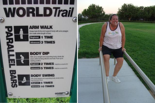 arm walk fitness station