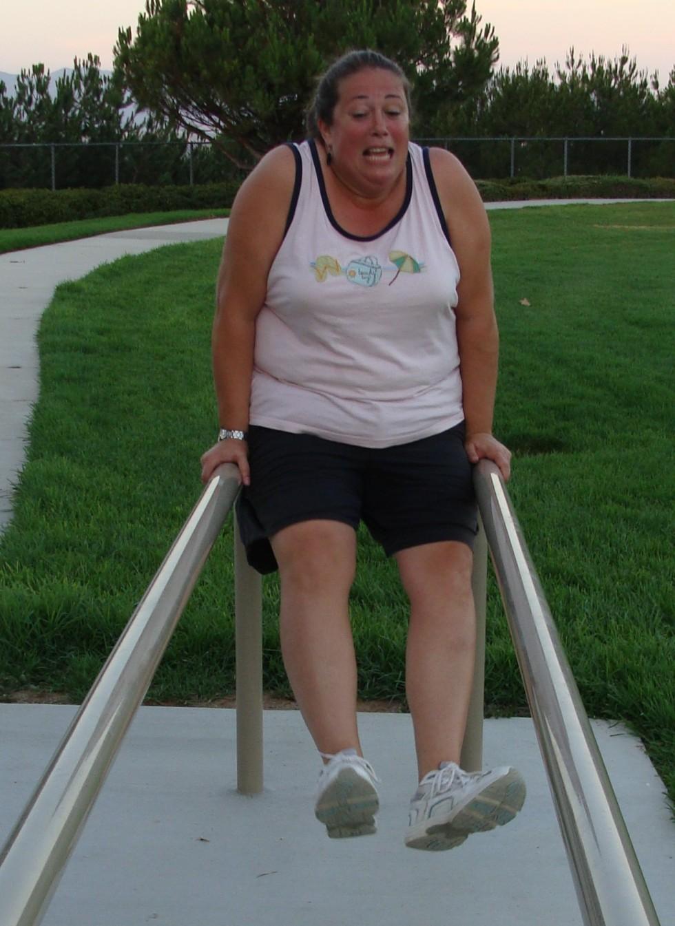 funny arm walk exercise training