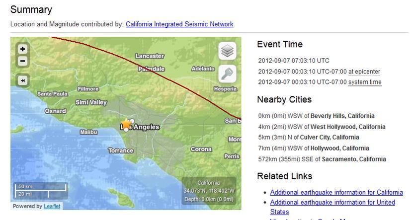Los Angeles earthquake