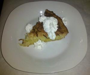 Lemon Coconut Buttermilk Pie at 605 Grille