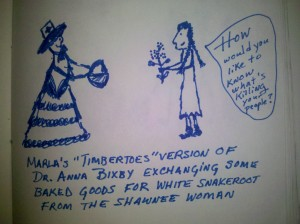 Anna Bixby and Shawnee woman