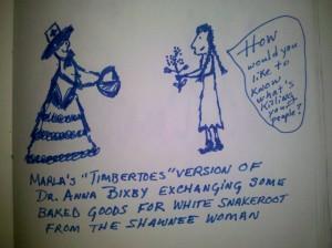 Anna Bixby and Shawnee woman