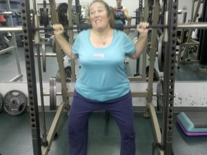 Marla attempting squats