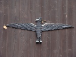 Donald Leroy Sink wood carving eagle bird spread wings
