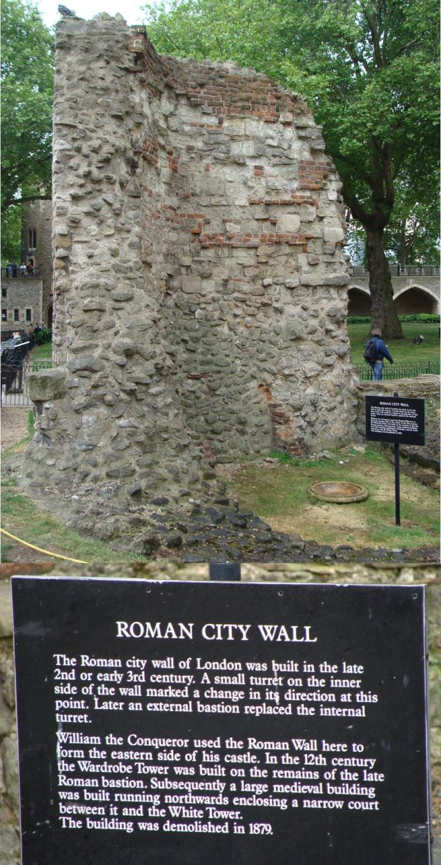Roman Wall tower of London