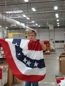 Tour guide Julie Darr was a wonderful ambassador for Annin Flags.