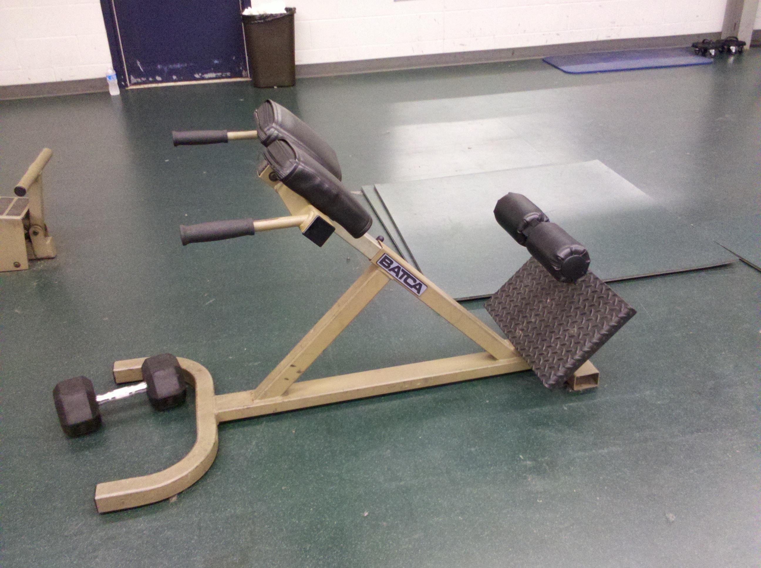 back exercises machine