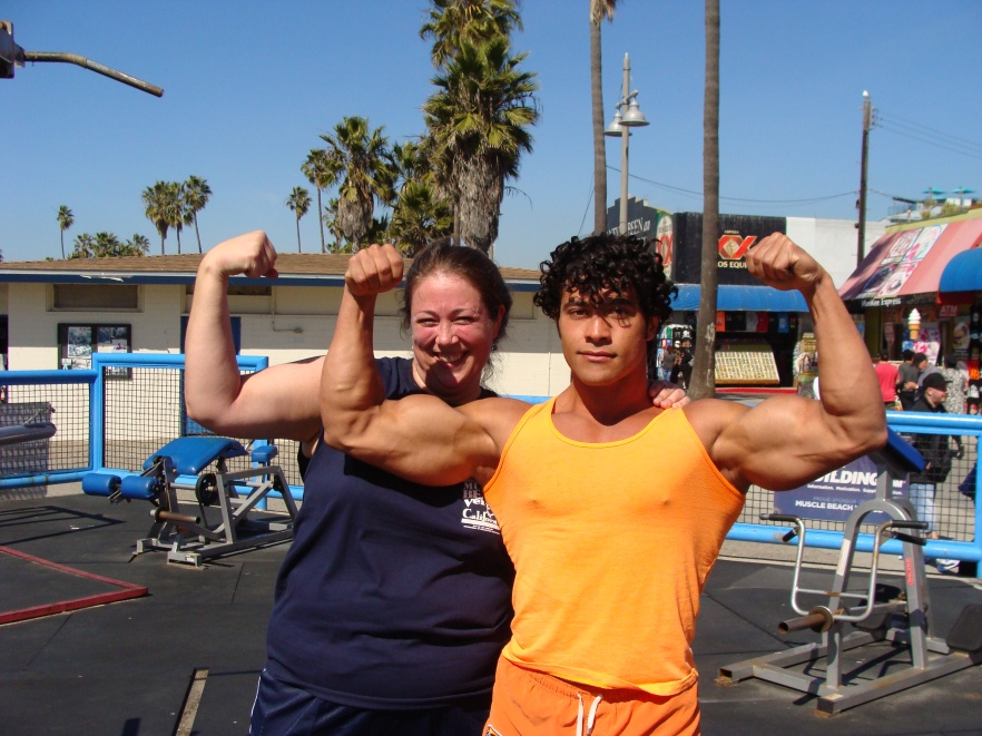Muscle Beach Venica CA travel Los Angeles Venice Beach California writer blogger