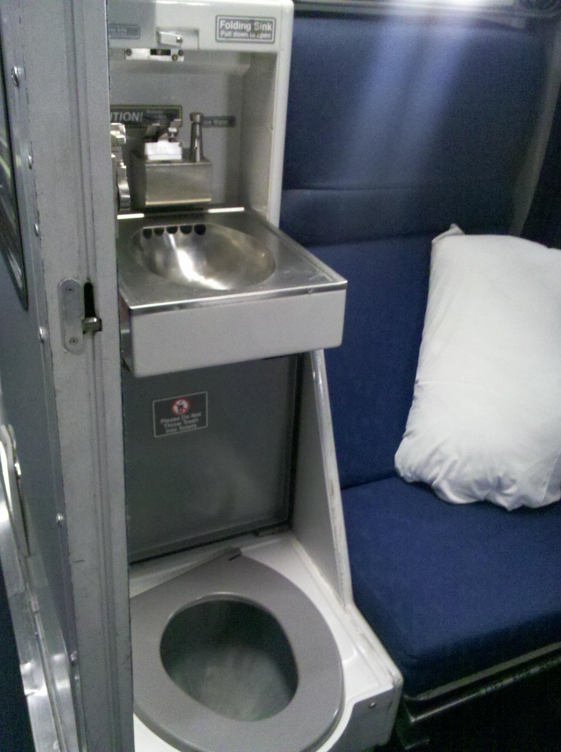Roomette Toilet Sink Viewliner Amtrak Train Marla Sink Druzgal