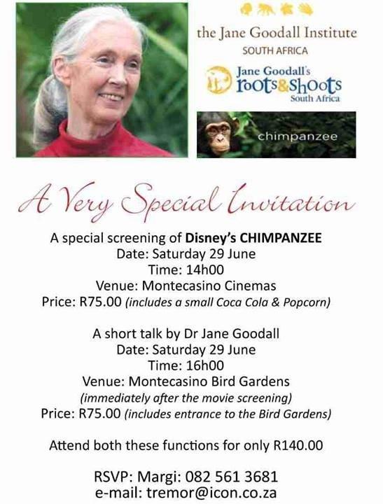 meeting Dr Jane Goodall Pretoria, South Africa