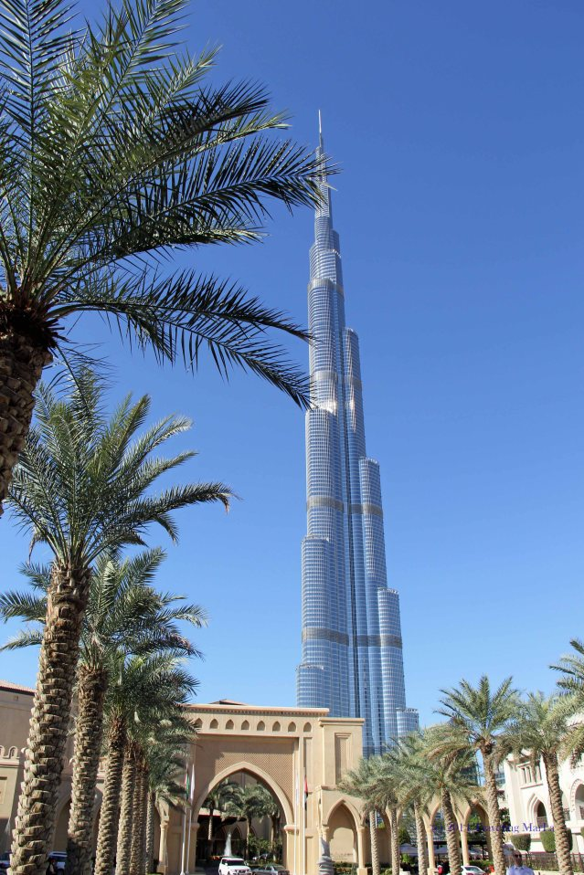 A view of Burj Khalifa from the Palace Hotel