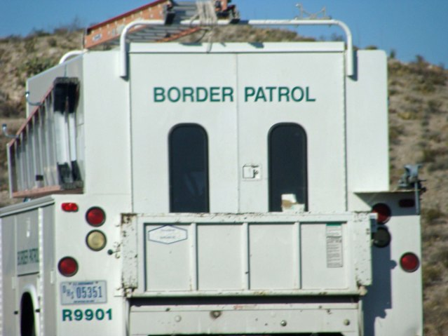 Border Patrol truck in Texas.