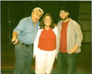 Traveling Marla and nephew Brandon getting to meet Jay Leno in 2010