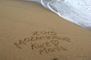sand writing Africa travel