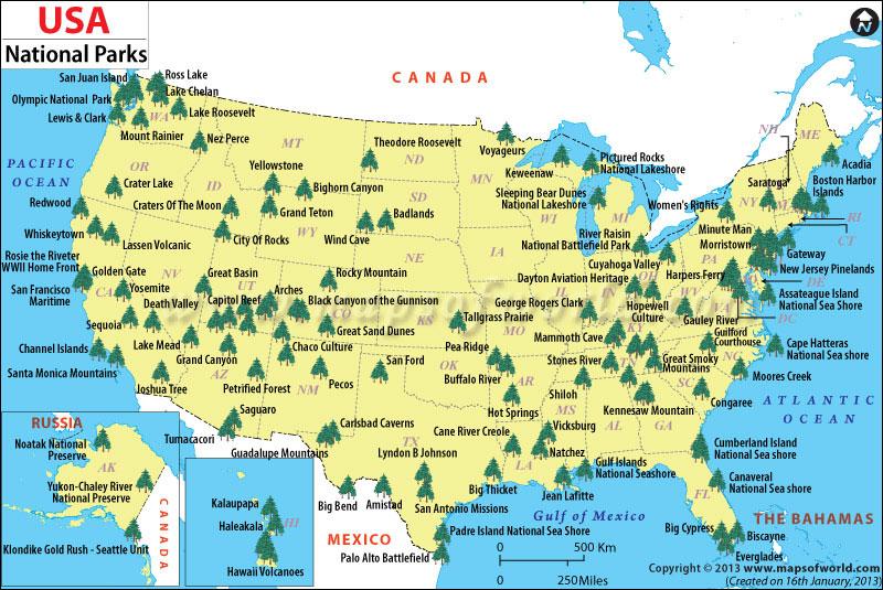 travel America national parks